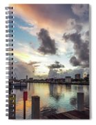 Gulfport Harbor Colors Spiral Notebook