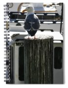 Gull And Pier 1 Spiral Notebook