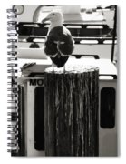 Gull At Pier Spiral Notebook