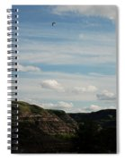 Gull Over The Badlands Spiral Notebook