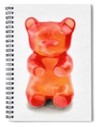 Gummy Bear Red Orange Spiral Notebook