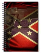 Gun And Confederate Flag Spiral Notebook