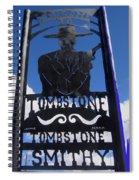 Gunfighter In Metal Welcome Sign 1 Allen Street Tombstone Arizona 2004 Spiral Notebook