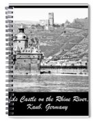 Gutenfels Castle On The Rhine, Kaub, Germany, 1903, Vintage Phot Spiral Notebook