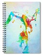 Gymnast Watercolor Paint Splatter Spiral Notebook