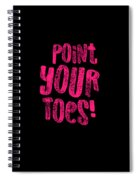 Gymnastics Point Your Toes Hot Pink Gymnast Light Spiral Notebook