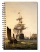 H M S Britannia Entering Portsmouth Spiral Notebook