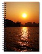 Ha Long Bay Sunset Spiral Notebook