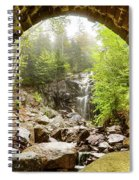 Hadlock Falls Under Carriage Road Arch Spiral Notebook