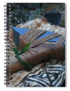 Hafted Hawaiian Adze Wailea Maui Hawaii Spiral Notebook