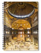 Hagia Sophia Interior Spiral Notebook