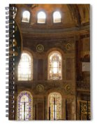 Hagia Sophia Interior Spiral Notebook