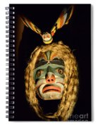 Haida Carved Wooden Mask 4 Spiral Notebook