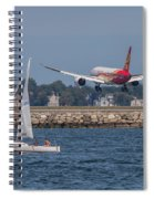 Hainan Airlines 787 Dreamliner Landing At Logan Spiral Notebook