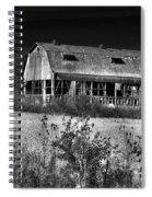 Hainesville Barn B/w Spiral Notebook