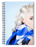 Hair And Beauty Fashion Portrait Spiral Notebook