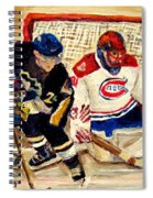 Halak Catches The Puck Stanley Cup Playoffs 2010 Spiral Notebook