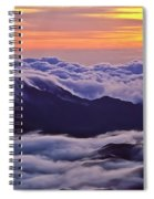Maui Hawaii Haleakala National Park Golden Dawn Spiral Notebook