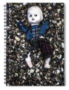 Half Buried Doll Spiral Notebook