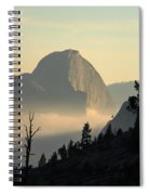 Half Dome And Fog At Olmsted Point In Yosemite Spiral Notebook