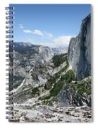 Half Dome And Yosemite Valley From The Diving Board - Yosemite Valley Spiral Notebook