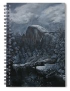Half Dome Black And White  Spiral Notebook