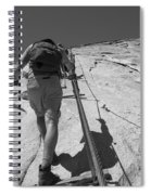 Half Dome Cables Spiral Notebook
