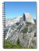 Half Dome From Inspiration Point Spiral Notebook