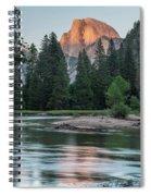 Half Dome In Evening Light Spiral Notebook