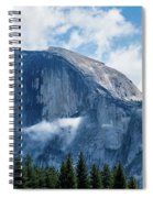 Half Dome In The Clouds Spiral Notebook