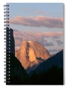 Half Dome Mountain At Sunset, Yosemite Spiral Notebook