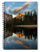 Half Dome Sunset Glow Spiral Notebook