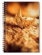 Half Moon Crescent. Bedtime Scene Spiral Notebook
