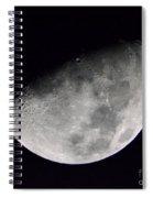 Half Moon Number 5 Spiral Notebook