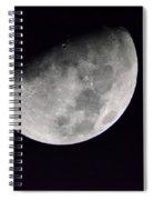 Half Moon Number Three Spiral Notebook