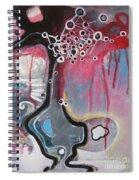 Half Moon On Vase Spiral Notebook
