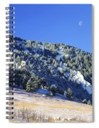 Half Moon Over The Flatirons Spiral Notebook