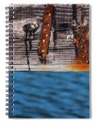 Half Wood Spiral Notebook
