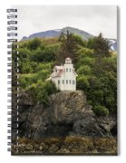 Halibut Cove Lighthouse Spiral Notebook