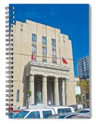 Hall Of Justice In Valparaiso-chile  Spiral Notebook