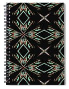 Hall Of Mirrors In Abstract Spiral Notebook