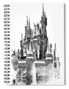 Hall Of The Snow King Monochrome Spiral Notebook