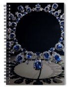 Hall Sapphire And Diamond Necklace Spiral Notebook