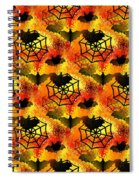 Halloween Abstract - Happy Halloween Spiral Notebook