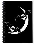 Halloween Bats And Crescent Moon Spiral Notebook