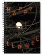 Halloween Card Spiral Notebook