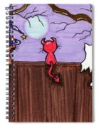 Halloween Cat Costumes Spiral Notebook