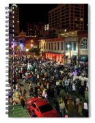 Halloween Draws Tens Of Thousands To Celebrate On 6th Street Spiral Notebook