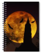Halloween Moon Spiral Notebook