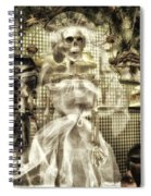Halloween Mrs Bones The Bride Vertical Spiral Notebook